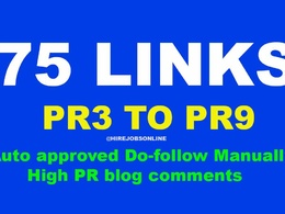 Do manually 100 blog comments with dofollow page authority links