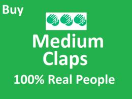 High Quality 200 Medium Claps on your Medium Article
