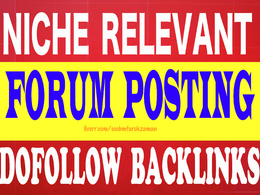 Provide 30 unique domain DA 50 plus forum posting backlinks