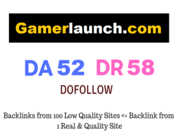 Guest Post on Gaming Website, Gamerlaunch.com - DA 52 DR 58