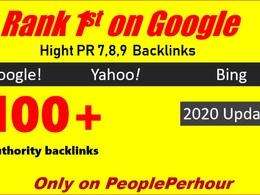 Create 100 manual dofollow high pr backlinks with high da links