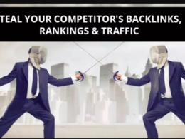 Report for 4 websites competitors backlinks, top pages, keywords