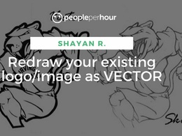 Redraw your existing logo/image as VECTOR