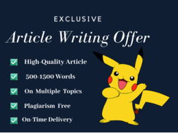 Provide you exclusive article writing service