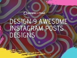 Design 9 awesome Instagram posts designs