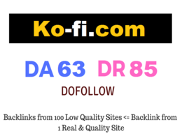 Guest Post on Ko-fi.com DA 63 DR 85 - Traffic: 60K/Month