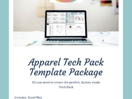 Supply a complete tech pack template (excel) + PDF user guide