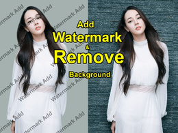 Do Background  Remove & Water mark add  photos