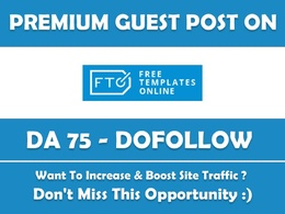 Guest Post on Freetemplatesonline. Freetemplatesonline.com DA75