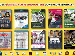 Design sports or games/health or fitness/gym  flyer or poster.