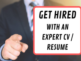 Write a professional CV of up to 500 words