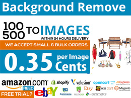 Photoshop Cutout/Remove Background Of 100 Images in 24 Hours