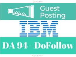 Guest Post Published on IBM, IBM.com DA 94
