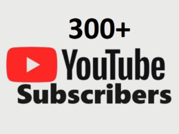 Get you 300 Youtube subsecribers non drop fast delivery