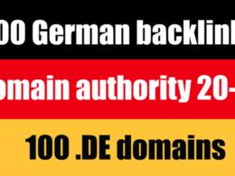 80 websites high authority german de backlinks