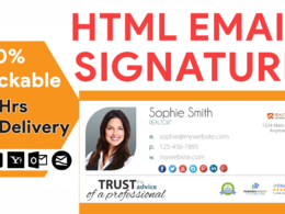 Design clickable HTML email signature for your email