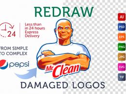 Vector Tracing | Vectorize Logo |  Redraw Logo