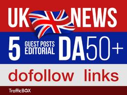 Publish 5 Guest Post UK News Sites DA50+