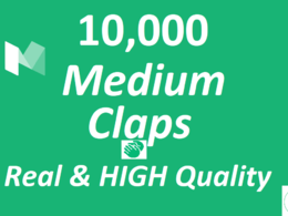 High Quality 10,000 Medium Claps on your Medium Article