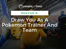 Draw You As A Pokemon Trainer And Team