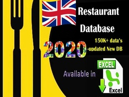 Provide UK restaurant database 150K+ in excel format 55k+ emails