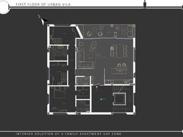 Conceptual design of medium size apartment.