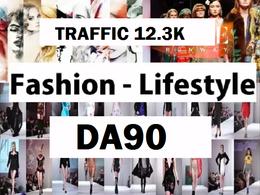Write and Post On FASHION OR WEDDING -DA90 Traffic 12.3k blog