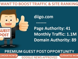 Add a guest post on diigo, diigo.com DA 89