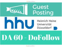 Guest Post Publish on German HHU University - HHU.de