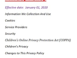 I will write legal privacy policy for your website or app