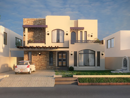 I will design your house exterior elevation