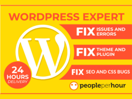 I will fix WordPress issue, SEO, Plugin bug and CSS errors quick