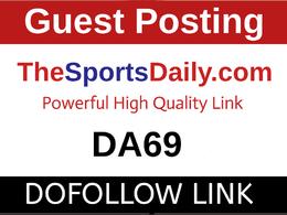 Publish a Guest Post on TheSportsDaily, TheSportsDaily.com-DA69