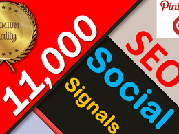 LIMITED OFFER!!!! ⭐️11,000 Social Signals⭐ Pinterest