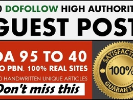 Publish 10 High Authority Sites DA 50+ (Limited Offer)