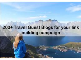 Write post on top travel blog da 80, pa 76 dofollow link