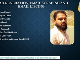 Do b2b lead generation and build targeted email list