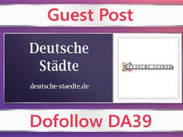 Guest post on Deutsche Städte - deutsche-staedte.de - DA39