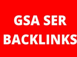 200.000 GSA SER SEO High Quality Backlinks