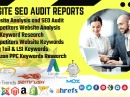 SEO Keyword Research, Competitors Analysis & SEO Audit Report