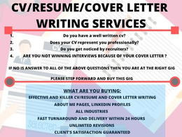 Create winning CV /Resume and Cover letter