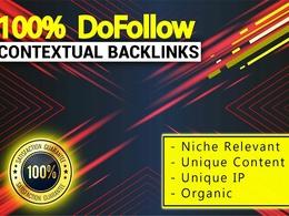 Create high authority high pr contextual dofollow seo backlinks