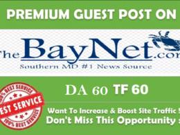 Publish Dofollow Guest Post On TheBayNet.com DA 60
