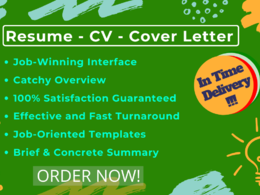 Write professional, eye catching Resume/ CV/ Cover Letter