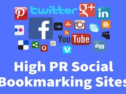 Do 50 HQ social bookmaking for you site manually