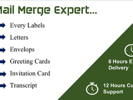 Mail merge Label Design Shipping Labels