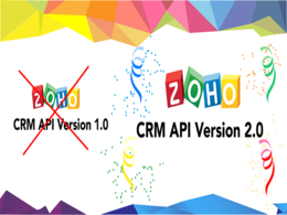 Setup zoho crm, migration of apis and functions to v2,0