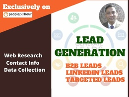Provide b2b lead generation for 100 targeted leads