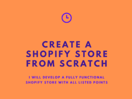 Create a SHOPIFY store