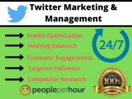 Do twitter marketing and management for your brand